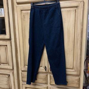 NWOT! Dark Blue Pull On Denim Pants
